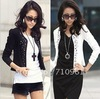Free shipping .2012 spring women's ol plus size slim rhinestones blazer suit women's short jacket female