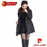 2012 winter down cotton female fashion medium-long casual with a hood fur collar cotton-padded jacket