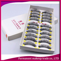 Taiwan handmade false eyelashes thick natural bare makeup soft and comfortable cotton stalk cross section 6 - Free shipping