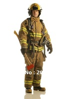 02 type fire insulation clothing, firefighter suit Uniform sets including:  Helmet, jacket, gloves, belts, under clothing, boots