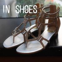 Rene caovilla pinch flat cross rhinestone back zipper sparkling sandals herringbone sandals