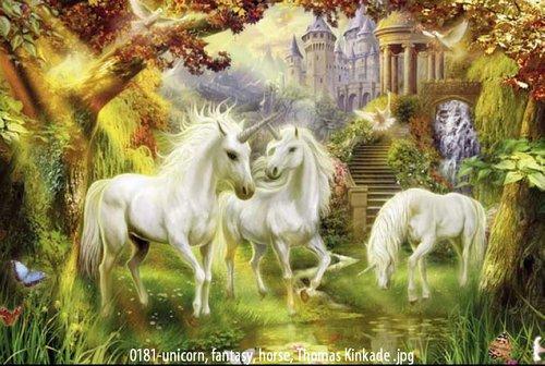Kinkade Paintings Canvas Paintings Canvas Unicorn