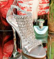 Fashion fashion sexy wedding shoes party shoes rhinestone stiletto sandals 9005 - 12