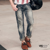 Autumn men's clothing fashion trousers male straight Men boys jeans men's trousers denim trousers