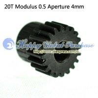 10pcs/lot 20T Modulus 0.5 Aperture 4mm 45 steel gear motor gear No.39 free shipping