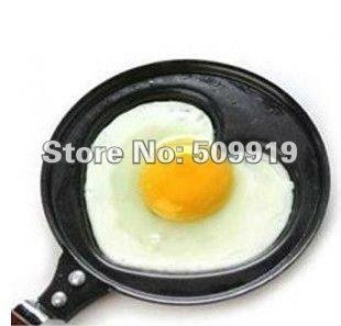 Free shipping by China post-2pcs/lot,Mini Lovely Heart Shaped Egg Fry Frying Pan, Cook pan ,Non-Stick(China (Mainland))