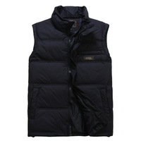 Free shipping 5XL Men's down vests autumn and winter quinquagenarian down waistcoat loose overcoat