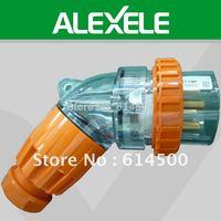 Free Shipping 56PA432 500V 3 Phase IP66 4 Round Pin 32A Angled Waterproof Plug