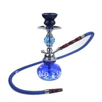Small Hookah with Glass Vase (Blue) -203719