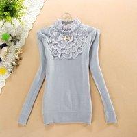 Женские толстовки и Кофты women's large lapel long-sleeve sweater shirt