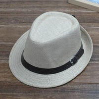 Fashion Straw Jazz Bucket Cap / Hat Fedoras Belt Unisex Wholesale