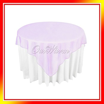 "10 Lavender Organza Table Overlay Cloth 72"" Square Wedding Party Supply Colors New"