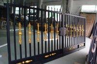 wrought iron fence sliding gate