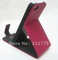 DHL Free shipping Flip Leather Case Cover for iphone 5 5G Embossed Litchi Leather Case for new iphone5 Wholesale High Quality