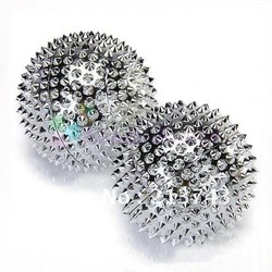 Pair Magnetic Hand Palm Acupuncture Ball Needle Massage(China (Mainland))