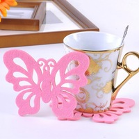 Freeshipping!!Wholesale,Picture Color,Cup pad,Place mat,novelty toys Coaster,Fashionable originality felt cup mat P237