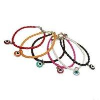 New Arrive Wholesale 30Pcs/lot 1*1cm Evil Eye Bead Hamsa Hand of God Fatima Charm Handmadke Bracelet Lovers catenary