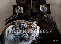 new tiger animal printing Egyptian cotton bedding sets duvet quilt covers sets 4pc for bedroom Queen/full comforter home textile