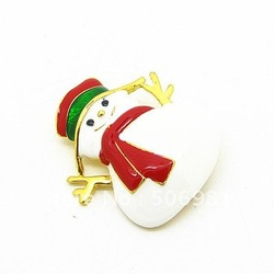 Free Shipping Wholesale Fashion Snowman Brooches 42*40mm Brooch Pin Fit Christmas Festival Gift 12pcs/lot Wholesale HB039(China (Mainland))