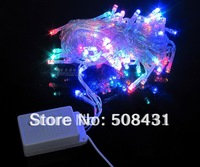 free shipping christmas lights led festive flashing 10 meters 100pcs lamps multicolour for party With Display