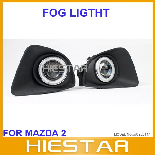 Fog lamp light full set replacment for Mazda2 Mazda 2 with projector CCFL(Hong Kong)