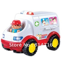 Free shipping ! children plastic  Ambulance mini Toy