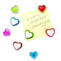 Free shipping plastic heart fridge magnets/fantastic creative toys