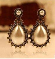 Fashion Hot Selling New Style Classic big Simulated Pearl Stud Earrings E74