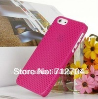 11 colour Mesh Breathable Perforated Hard Plastic back case cover pouch for free shipping by china air post for iphone 4 4s