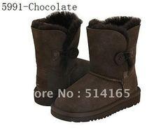 Wholesale 5991 Kids Snow Boot, kid Sheepskin Boots, Winter Boots, Size: 26-35 1pairs(China (Mainland))