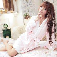Free shipping! Sweet Love Lolita Style Women's Sleep & Lounge robe,Hooded design's Coral fleece Pajama Sets (pink,lavender)