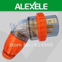 High Performance 56PA532 Waterproof 3 Phase IP66 500V 32A 5Pin Angled Plug