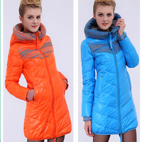 2012 down cotton cotton-padded jacket hot-selling slim medium-long women's plus size wadded jacket cotton-padded jacket female
