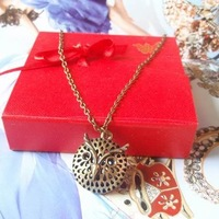 Mix Fashion accessories hot-selling suntanned three-dimensional owl necklace