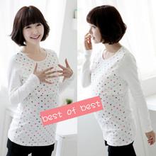 Love long-sleeve nursing clothing maternity top clothing  free shipping(China (Mainland))