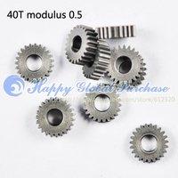 10pcs/lot 40T modulus 0.5 copper gear wheel motor gear No.42 free shipping