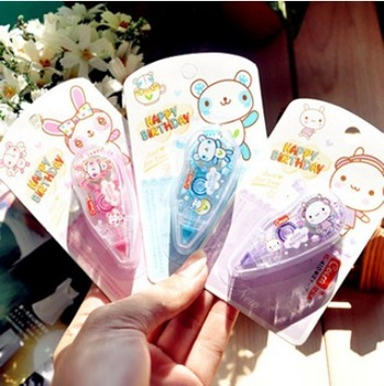 Min Order $20 (mixed order) School supplies stationery rasure belt double faced adhesive correction tape (FN)
