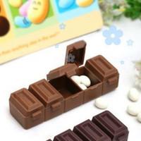 Small kit chocolate five grid small storage box / pill case (KD-16)