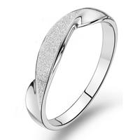 Jpf scrub ring 925 pure silver ring female women's ring heterochrosis j0312