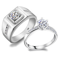 Jpf luxury wedding  925 pure silver ring female lovers ring