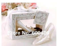 36pcs/lot Cinderella Shoe Candle Wedding Favour Gift / Table Decoration / Accessorie Free Shipping
