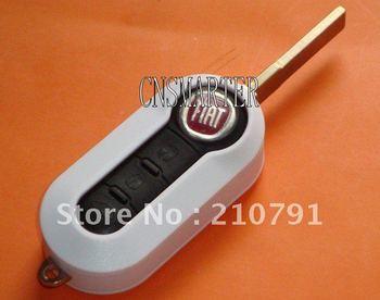 Fiat flip remote key blank 3 button (white)