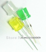 (CE&Rosh)Green diodes 5mm leds Flat top dip led DIFFUSED led lamp bulb-olivine effect