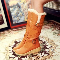 2013 New Fashion women boots Suede Flat snow Boots winter boots Free shipping 819NHXZ