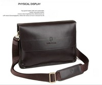 2012 NEW ARRIVAL EXCELLENT QUALITY Genuine The dermis Men stylish shoulder bag Messenger bag 100% Hot sell !!!FREE SHIPPING