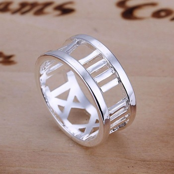Free Shipping Hot Selling Wholesale Fashion Cheap 925 Silver Plated Copper Love Letter Wedding Finger Ring Jewellery