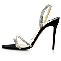2012 fashion high-heeled shoes water brick around the belt ultra high heels red sole shoes banquet single shoes