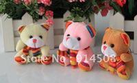 6CM lovely scarves Bear plush mobile phone pendant 145piece free shipping