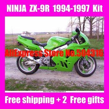 B3993 HOT Green for NINJA ZX-9R 94-97 ZX9R 1994-1997 ZX 9R 9 R 94 95 96 97 1994 1995 1996 1997 ABS Full Motocycle Fairing Kit