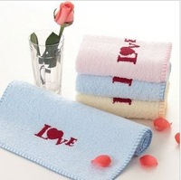 Free shipping ! wholesale 34*76cm 100g 5pcs/lot 100% cotton lovers soft face towel /face cloths/washer towel/hand towel